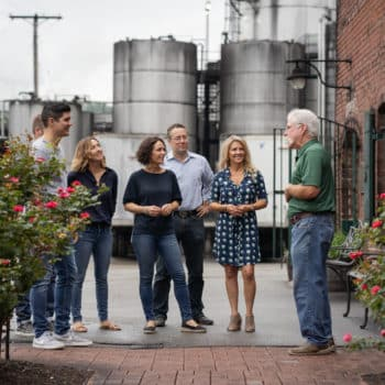 group of tourists on the premise of buffalo trace